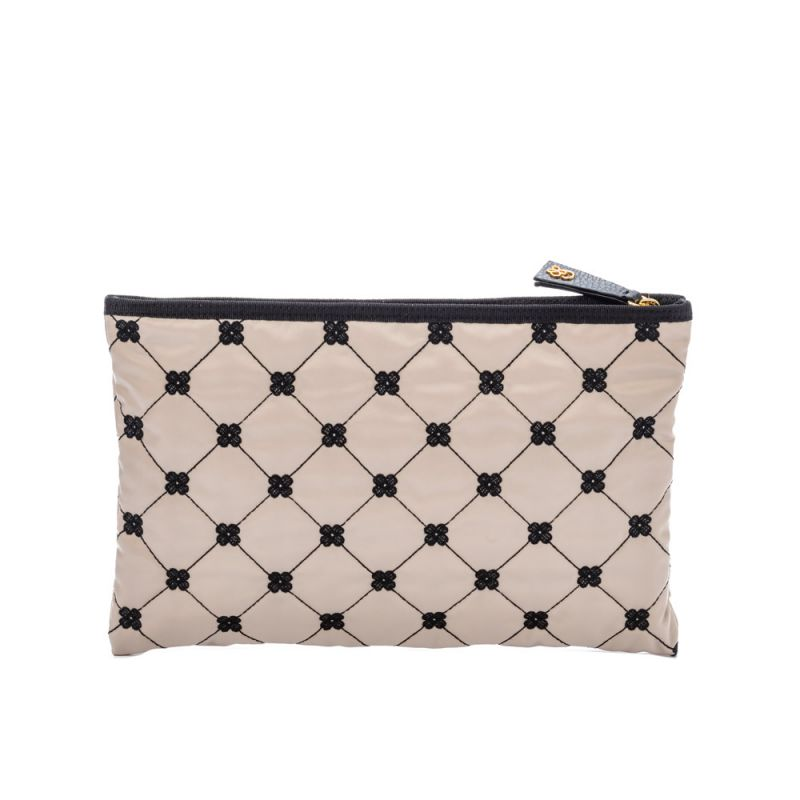 pochette-in-embroidered-technical-fabric-large-beige-black